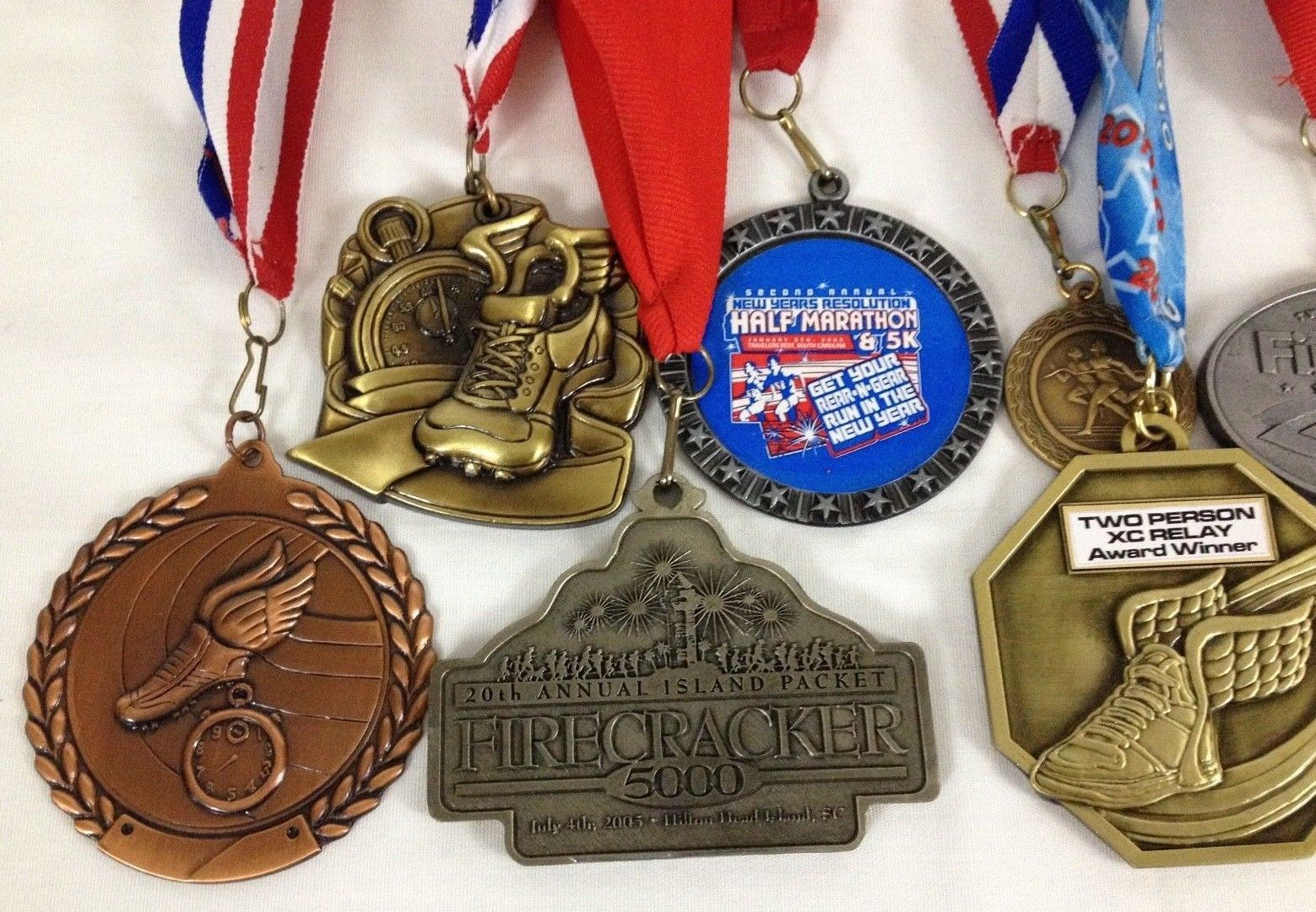 Lot of 14 Running Race Medals Medallions Awards From Various Events image 2