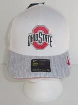 Nike Aerobill Ohio State Mens Womens Baseball Hat Cap White Grey OSFM New Drifit - $21.77