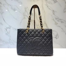 BRAND NEW AUTH CHANEL QUILTED CAVIAR GST GRAND SHOPPING TOTE BAG GHW RECEIPT image 3