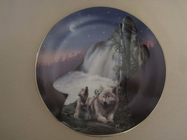 WOLF collector plate SONG OF THE RAPIDS Kevin Daniel PROFILES OF THE PAC... - $28.98