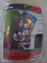 Factory Sealed! NEW Bucilla Woodland Snowman Christmas Stocking kit  #86505 - An - $54.99