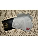 RAYBAN Sunglass CASE Cleaning Cloth Luxotica Romania Vintage Black for Eyeglass - $14.25