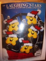 Design Works Laughing Stars with Santa Hats Plastic Canvas Garland Kit - $8.81