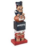 """New England Patriots NFL Team Garden Statue Totem Tiki 16"""" Tall Indoor/o... - $32.62"""