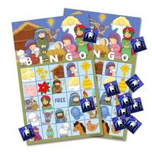 Christmas Nativity Bingo Game Cards for Kids 24 Players Preschool Activity - £7.81 GBP