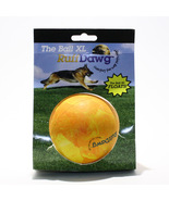 Ruff Dawg The Ball XL Durable Large Breed Solid Rubber Dog Toy - Orange/... - ₨881.96 INR
