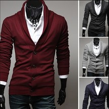 men's long sleeve jacket sweater - $43.86