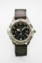Fossil Watch Date Men Stainless Steel Silver Leather Brown Nylon Black 5... - $33.46