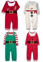 NWT Gymboree North Pole Party Holiday Shop Santa Elf Snowman Christmas Romper  - $10.99