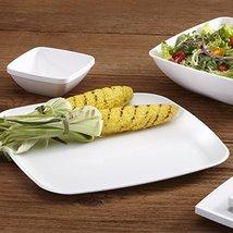 """Mozaik Premium Plastic 14"""" White Square Serving Platters, 2 count image 4"""