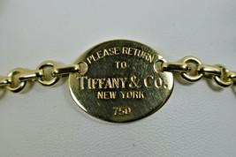 Return to Tiffany & Co 18K 750 Gold Tag Charm Bangle Bracelet ($3700+) - $2,522.00