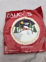"""Vtg 1982 Calico's applied needle kit 10"""" Framing Hoop #2206 winter scene... - $12.81"""