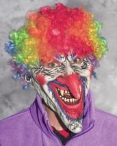 Clown Mask Dastardly Rainbow Afro Long Nose Ugly Creepy Halloween Costum... - $86.16 CAD