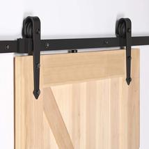 Sliding Barn Door Hardware Kit 6.6FT Modern Closet Hang Style Track Rail... - $93.52