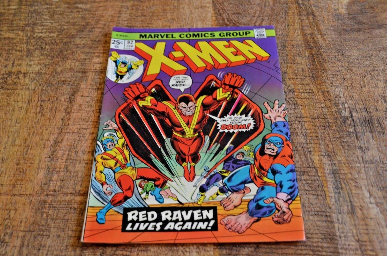 The X-Men #92 (Marvel, 1975) Red Raven Lives Again VF Condition