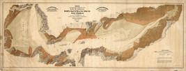 "1874 LARGE 16""x42"" California Geneology Map Shoreline Property Wall Print Poster - $28.22"
