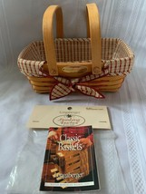 Longaberger 2000 Homestead Woven Memories Basket Combo Fabric Liner and PP - $32.71