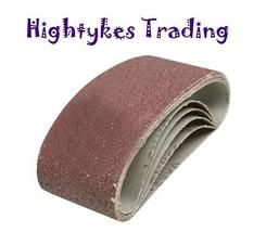 20 Sanding Belts abrasive 75 x 457 suit bosch b&d dewalt AEG P40  P60 P80 P120 - $18.24