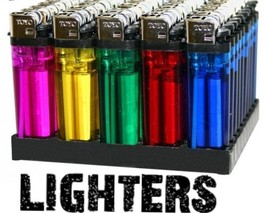 20 Disposable Cigarette Lighters Full Size with windguard and adjustable... - $20.56