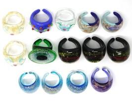 LOT OF 14 ANTICA MURRINA VENEZIA BAND RINGS, MURANO GLASS image 2