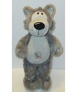 "GREAT WOLF LODGE 15"" GRAY WOLFIE SKIN FIESTA PLUSH STUFFED ANIMAL DOLL TOY - $9.99"