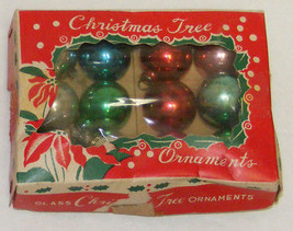"Vintage 1"" Mini Glass Christmas Ornaments IOB #2a  - Japan - $12.99"