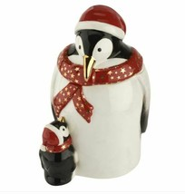 Spode Christmas Tree 2019 Penguin Candy Jar # 1698345 New - $75.74