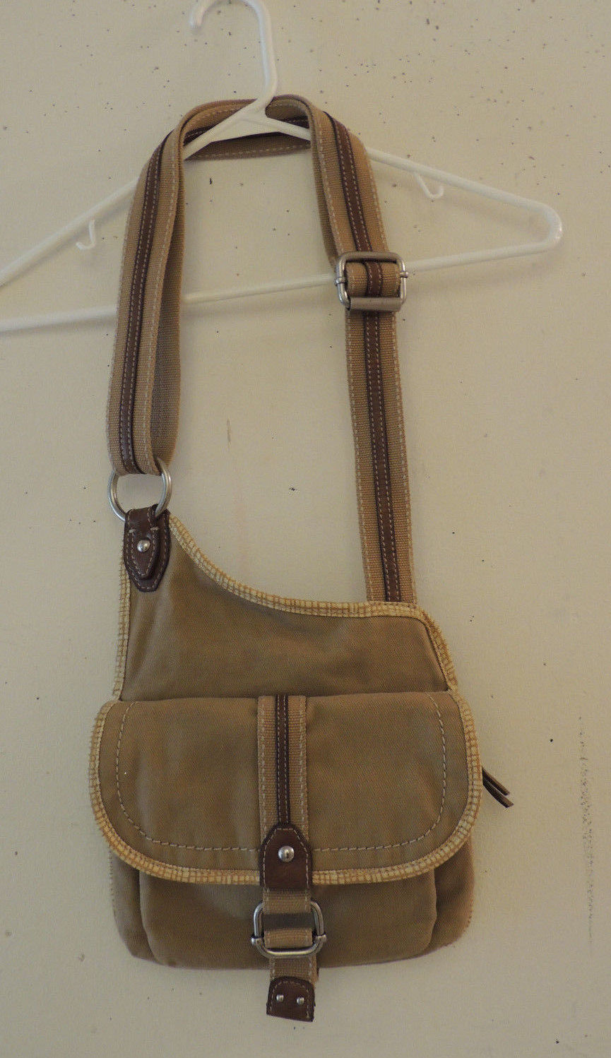 Striped Fossil Brand Canvas Messenger and similar items