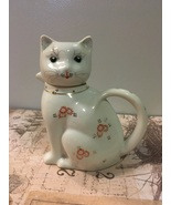 Vintage Takahashi Cat Shaped Pitcher Creamer Oriental DesIgn Miniature T... - $9.55