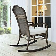 Classic Traditional Country Brown Resin Wicker Patio Rocking Chair Outdoor Porch image 5