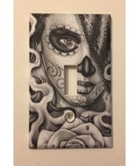 Day Of The Dead Light Switch Cover Wall decor Gift Girl Sugar Skull Mexi... - $7.94