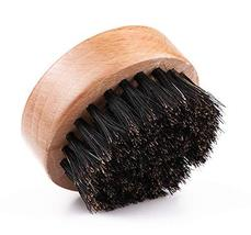 ECHOLLY Wood Beard Brush for Men - Boar Bristles Small and Round- Beard Balm and image 5