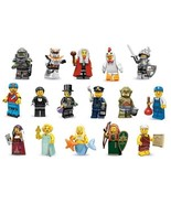 RARE LEGO RETIRED NEW COMPLETE 16 MINIFIGURES COLLECTION SERIE 9 # 71000... - $180.49