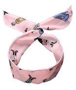Self Tie Twist Bowknot Headband for Womens Pink Trendy Girls Chiffon Hai... - $20.50