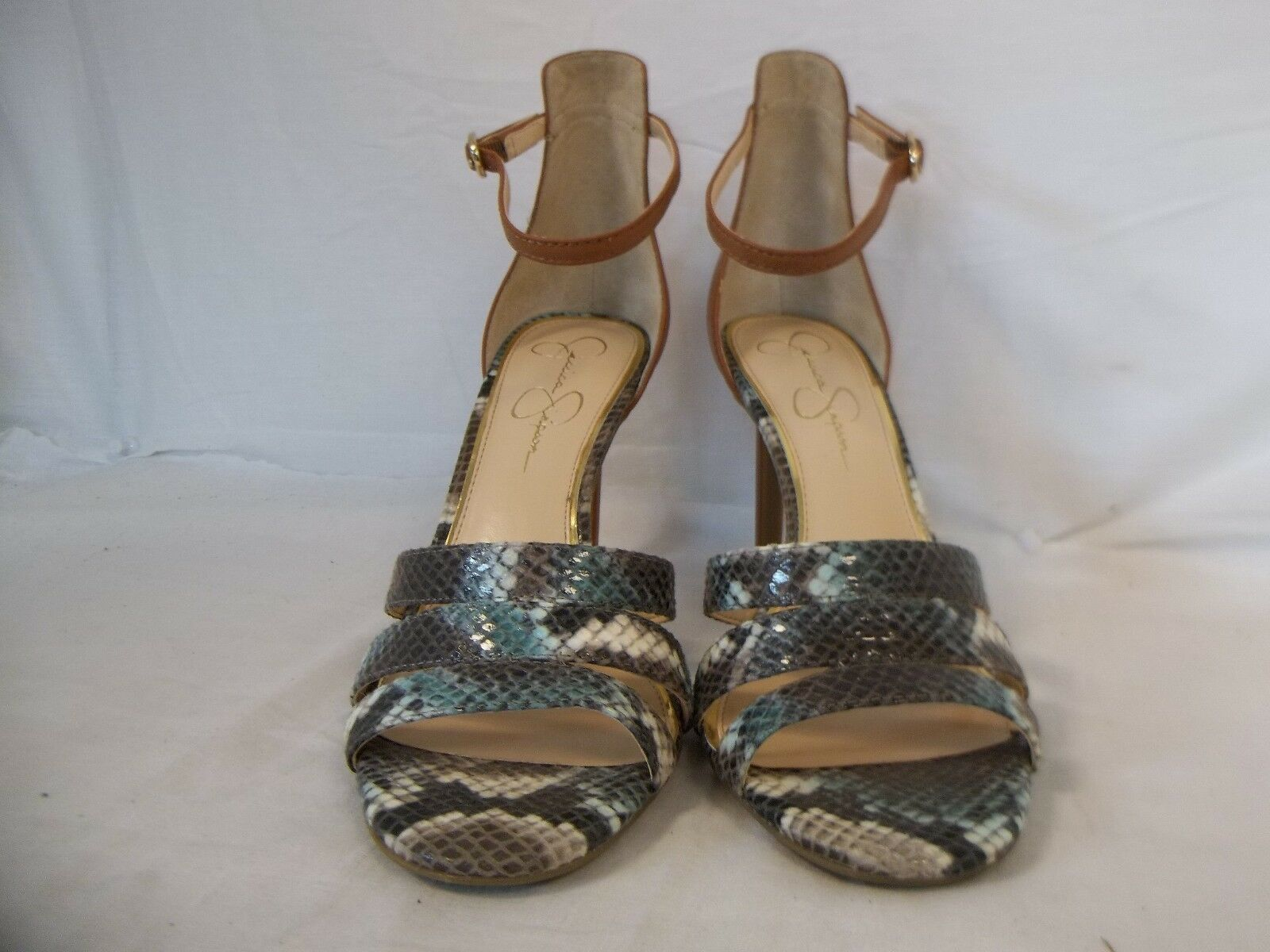 Jessica Simpson 7.5 M Maselli Multi Color Open Toe Heels New Womens Shoes NWOB image 2