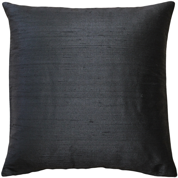 Primary image for Pillow Decor - Sankara Black Silk Throw Pillow 18x18
