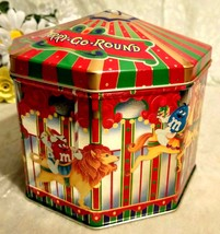 M&M Tin 1997 Carousel Collectable Christmas Holiday Merry Go Round Clean... - $3.47