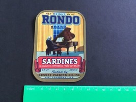 Rondo  Sardines Sunset Packing Co Pembroke ME vintage label R34044 - $8.11