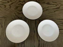 "Rosenthal Modern White Subtle Blue Trim 7.5"" Set Of 3 Salad Dessert Plat... - $29.69"