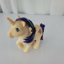Vintage 1983 My Little Pony G1 Glory Unicorn Hasbro Glitter Shooting Star - $14.84