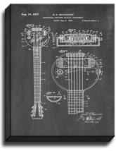 Electrical Stringed Musical Instrument Patent Print Chalkboard on Canvas - $39.95+
