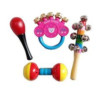 4 Pcs Sand Hammer Lovely Pastic Kids Rattles Toys for Newborn