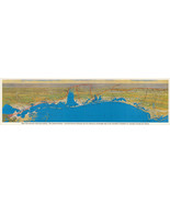 "1926 Wall Map XXXL 16""x57"" Gulf Coast Territory ""The American Riviera"" Poster - £42.47 GBP"