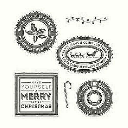 Primary image for Stampin' Up Holly Jolly Layers Stamp Set #142223