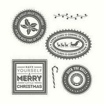 Stampin' Up Holly Jolly Layers Stamp Set #142223 - $14.35