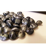 dark pearl beads plastic bead lot 9mm vintage beads 44 piece jewelry mak... - $2.50