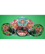 """Mask Bali Hindu Boma Mask Great for Entrance way Hand carved 16"""" assorte... - $58.90"""