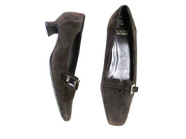 Stuart Weitzman brown suede shoe   Size 8  buckle accent - $18.89
