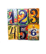 Spanish Tile House Number - $19.80