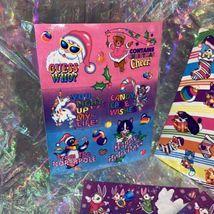 FULL Vintage Lisa Frank Holiday Christmas Silly Senders Kitten Sticker Sheets image 3